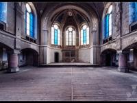 urbex, urban, exploration, opuszczone, abandoned, urbex.net.pl, kościół, church, niemcy, germany, blue, 2
