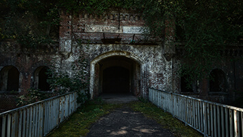 abandoned Poznan Fortress Fort Poland.