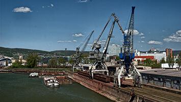 Transhipment port Slovakia