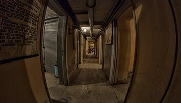 abandoned shelter in Poland