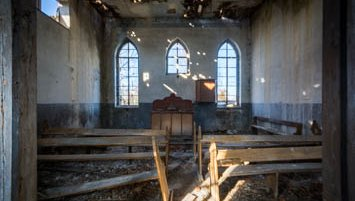 abandoned church in Poland