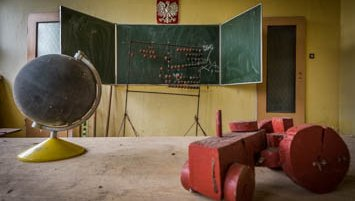 abandoned school in Poland