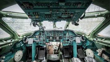 abandoned plane Poland