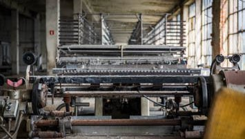 abandoned textile factory Poland