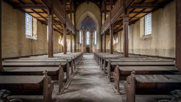 abandoned evangelical church Poland