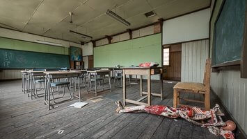 abandoned school Japan
