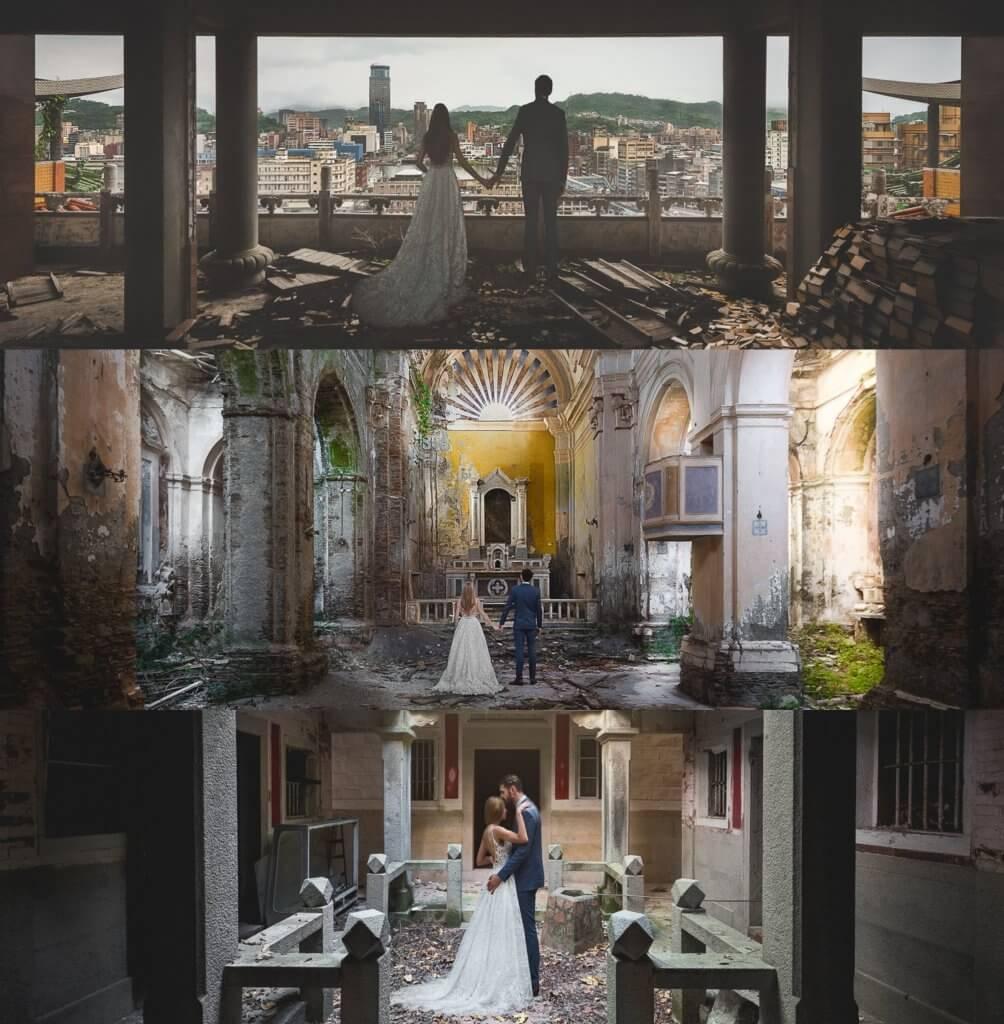 urbex wedding
