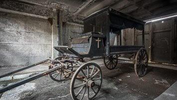 abandoned death caravan in Germany