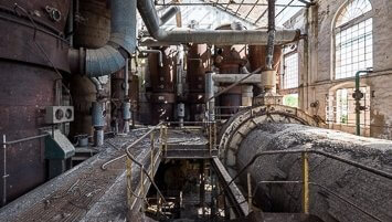 abandoned sugar factory Italy