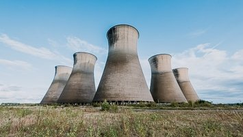 abandoned cooling tower in UK