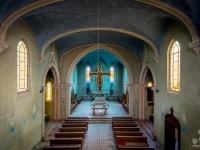blue, church, chapel, christ, italy, włochy, abanoned-3