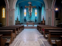 blue, church, chapel, christ, italy, włochy, abanoned-4