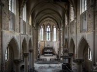 blue, christ, church, belgium, urbex, abandoned