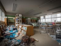 fukushima, exclusion, zone, school, primary, urbex-10