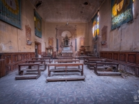 church, golden, decay, abandoned, (4)