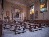 church, golden, decay, abandoned, (5)