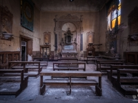church, golden, decay, abandoned, (6)