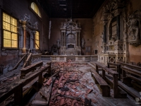 church, golden, decay, abandoned, (2)
